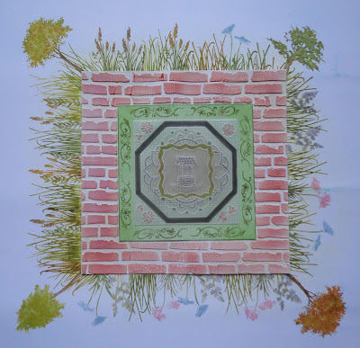 Mixed media walled garden image