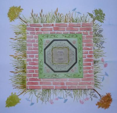 Mixed media walled garden image