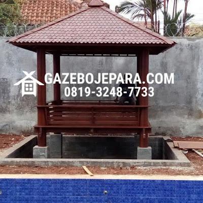 Gazebo Minimalis Atap Sirap