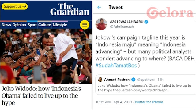 #SudahTamatBos: Media Inggris Sebut Jokowi 'Obama Indonesia' yang Gagal Digandrungi