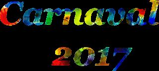 Palavra Carnaval e 2017 cheia de cor png