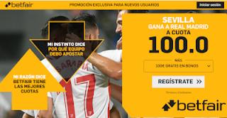betfair supercuota Sevilla gana Real Madrid 26 septiembre