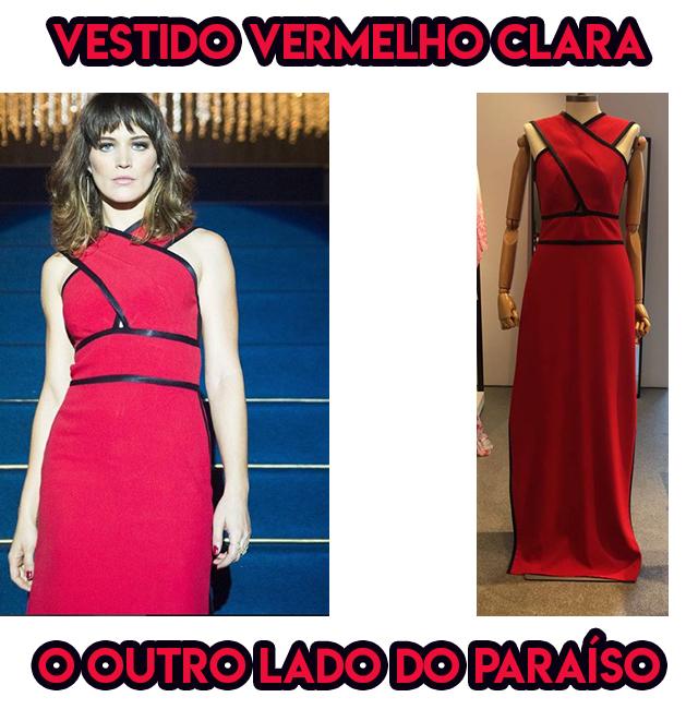 O vestido vermelho da Bianca Bin, a Clara em O Outro Lado do Paraíso