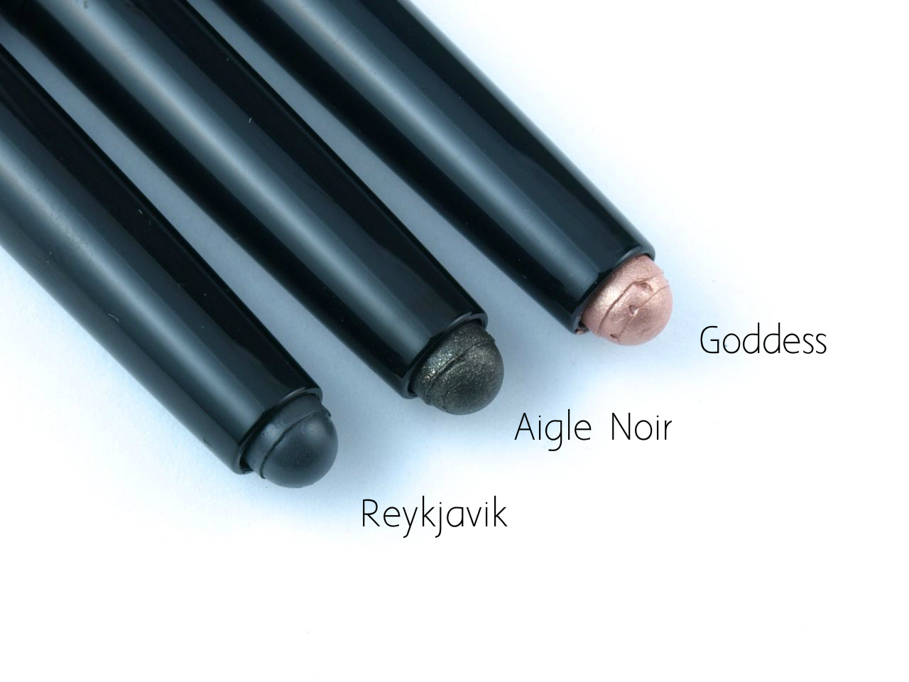 "Nars Velvet Shadow Sticks in ""Goddess"", ""Aigle Noir"" & ""Reykjavik"": Review and Swatches"