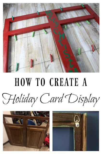 DIY Christmas card display.