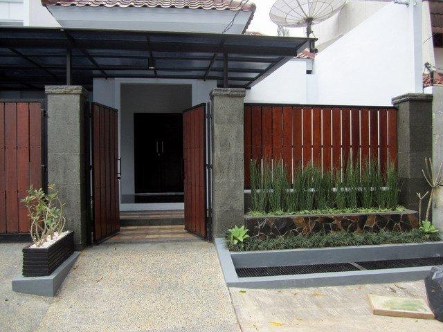 model desain pagar rumah mewah
