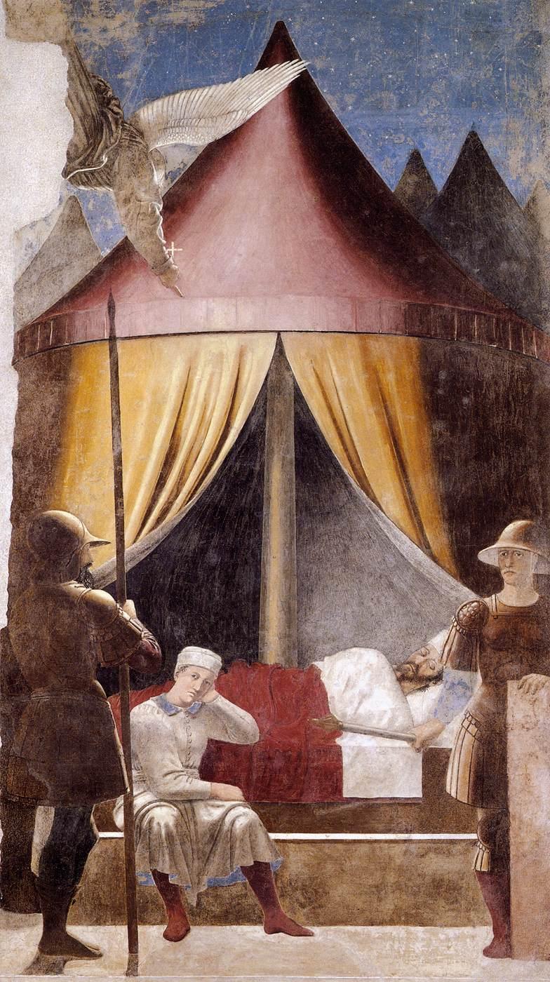 Piero  della  Francesca  The  History  of  the  True  Cross        Vision  of  Constantine