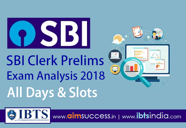 SBI Clerk Prelims Exam Analysis 2018 – All Days & Slots.
