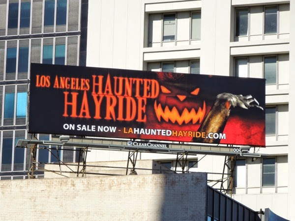 Los Angeles Haunted Hayride 2014 billboard