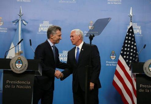 Macri y Pence se reúnen para hablar de Venezuela