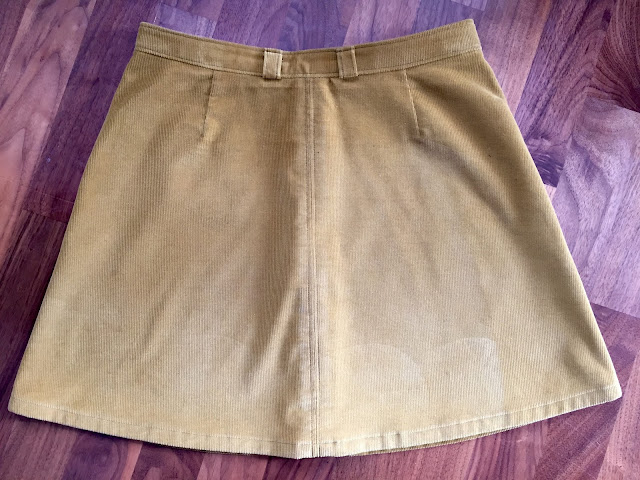Diary of a Chain Stitcher: Honey Mustard Cotton Corduroy Rosari Mini Skirt from Pauline Alice