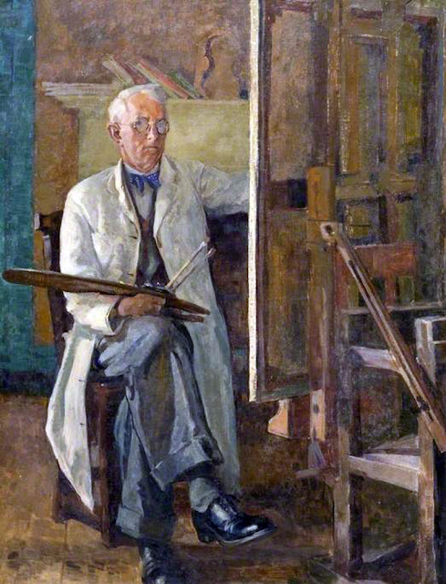 Percival Arthur Wise, Self Portrait, Portraits of Painters, Fine arts, Percival Arthur