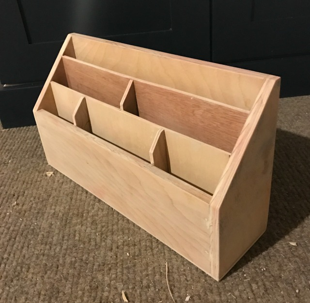 letter holder from scrap wood