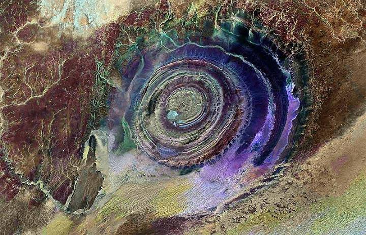 Guelb er Richat, Formasi Batu Menakjubkan di Mauritania