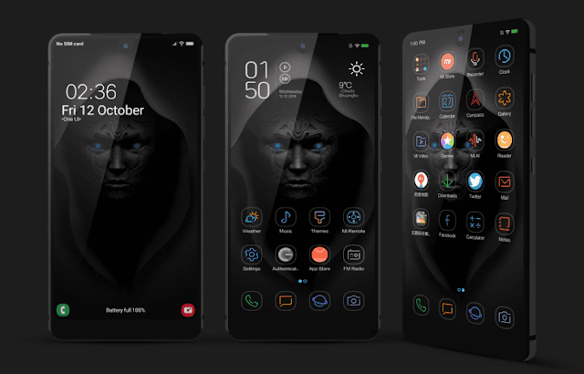 Tema Xiaomi Tembus Black O Light