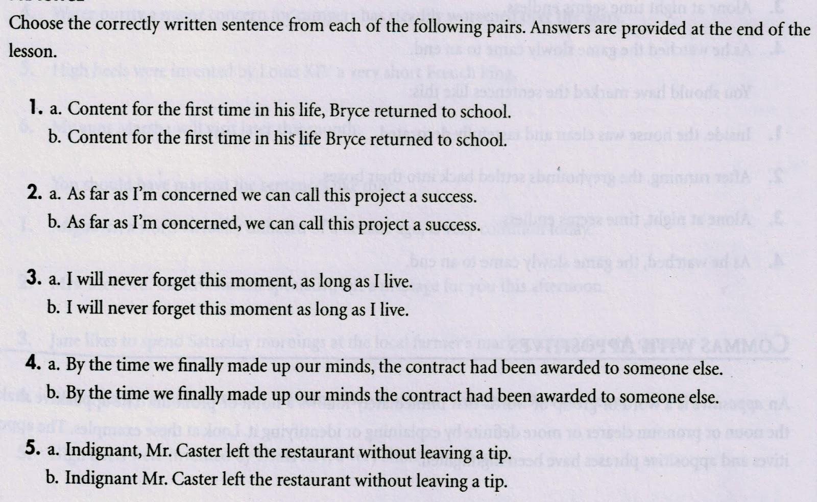 Master English Writing Exercise 22