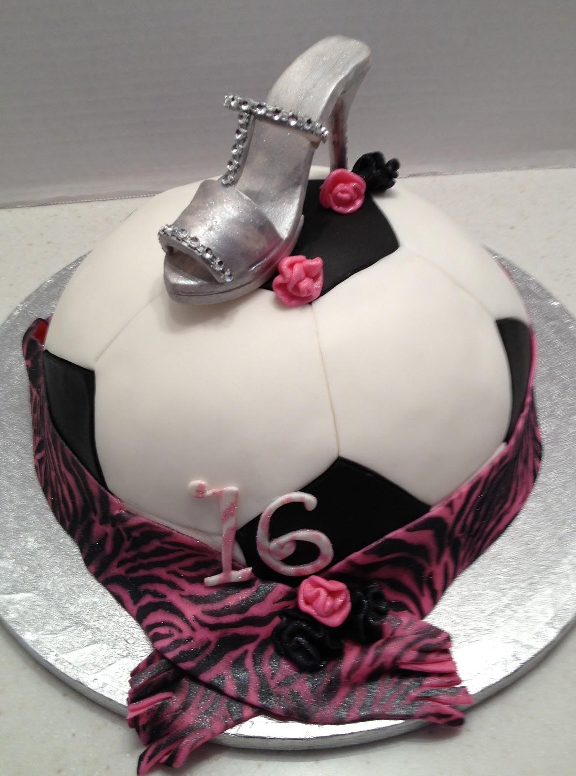 Marymel Cakes Sweet 16 Soccer Ball Amp Shoe