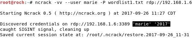 Whitelist: Online Password Attacks: Medusa / Ncrack / Hydra