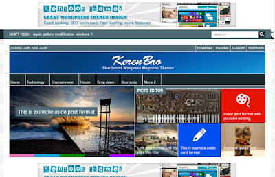 Free Download Themes Wordpress Kentooz Keren Bro