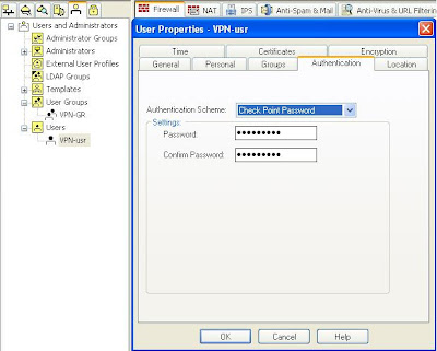 Network Labs: CheckPoint VPN configuration