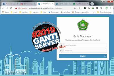 balasannya terbitlah Surat Edaran Direktorat Jenderal Pendidikan Islam nomor Surat Edaran dan Jadwal Update Emis 2018/2019 Semester 1