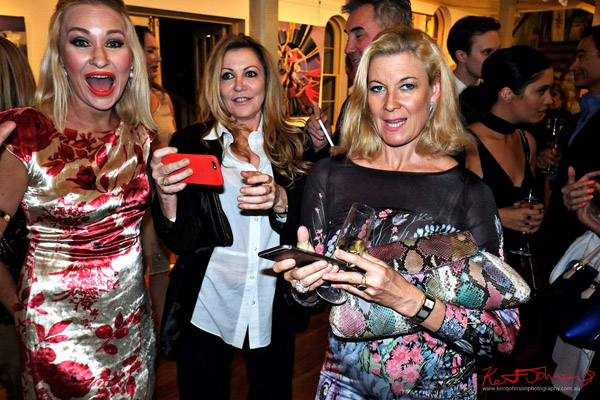 The original 'Three ladies at the Billich Gallery 30th Anniversary Party' Street Fashion Sydney by Kent Johnson.