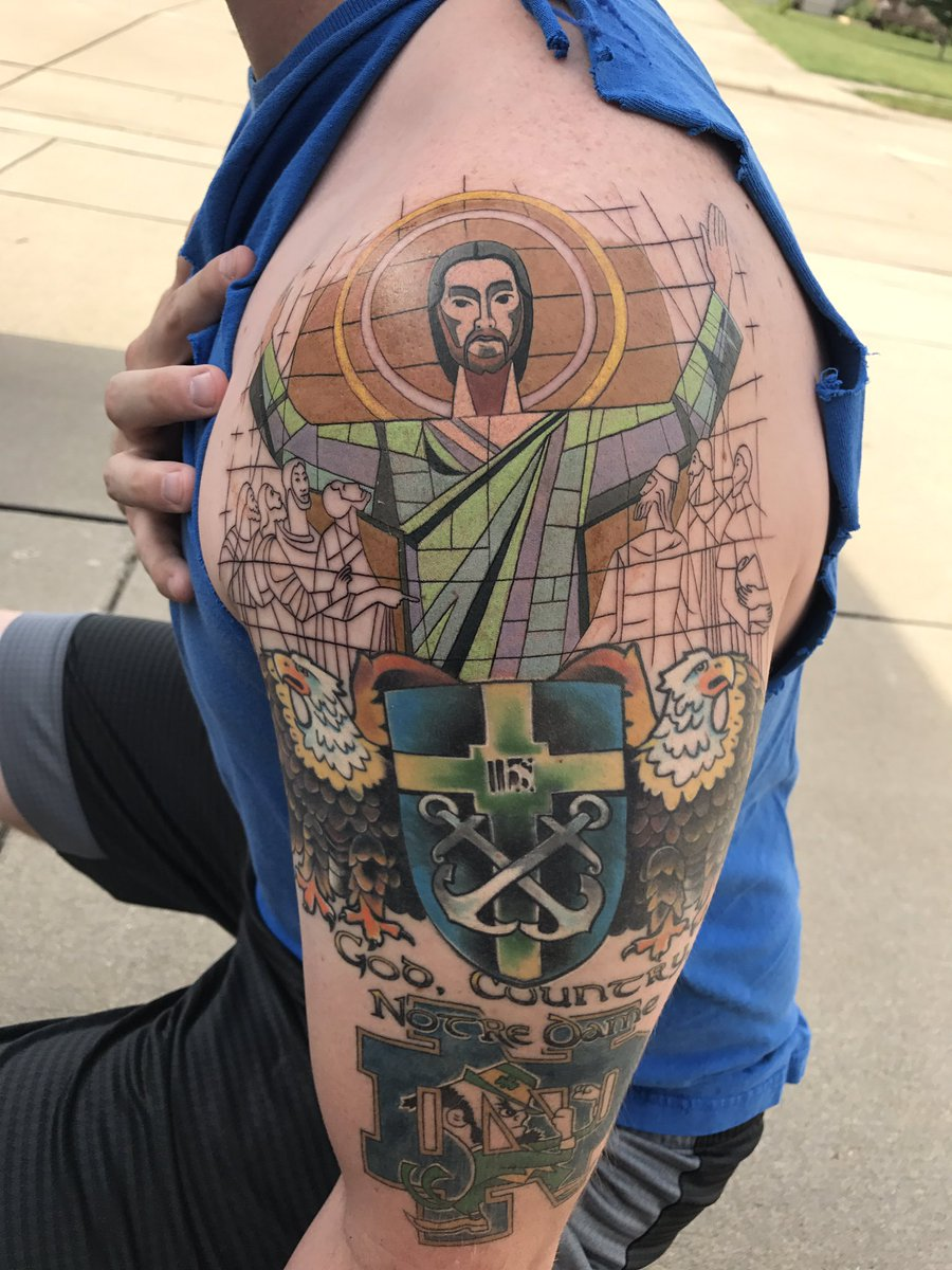 The notre dame tattoo of the year for Notre dame tattoo