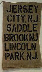 Custom made Burlap bus scroll..