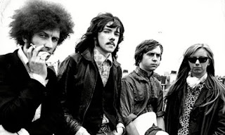 Farren's band the Deviants in 1970 left to right, Mick Farren, Mike McDonnell, Mike Bunce and Jeni Hurley.