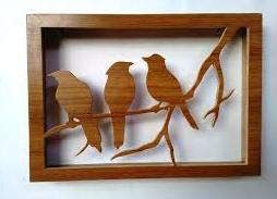 hiasan dinding cantik dari kayu bekas
