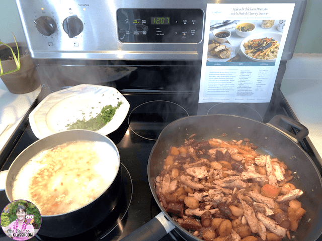 Photo of GoodFood meal preparation.