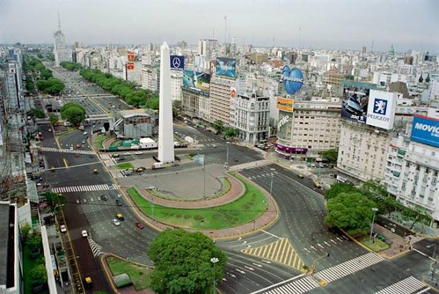 Aires La La Plus Large De Argentine Du Monde Julio 9 Route Buenos