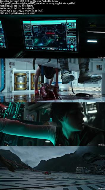 Alien Covenant 2017 BRRip 480p Dual Audio Hindi