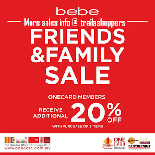 bebe Friends & Family Sale onecard