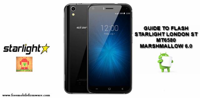 Guide to flash Starlight London ST MT680 Marshmallow 6.0 Tested method Free via flashtool
