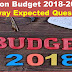 Union Budget 2018-2019 Expected Question for Railway Posts 2018