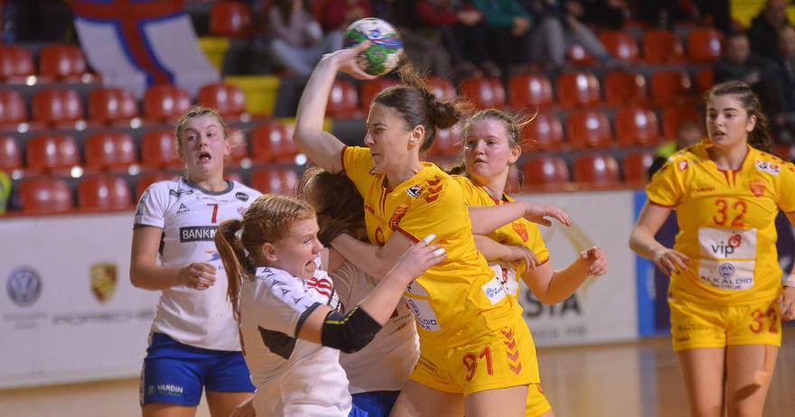Damen U20 Handball Wm 2018 Quali Mazedonien Mit Deutschland In
