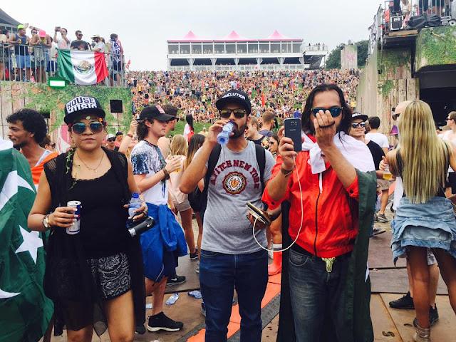 Waqar Zaka Wearing Pakistani Flag at Tomorrowland