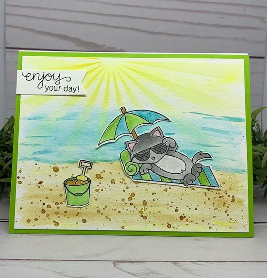 Enjoy  your day by Kimmie B. features Newton's Summer Vacation by Newton's Nook Designs; #newtonsnook
