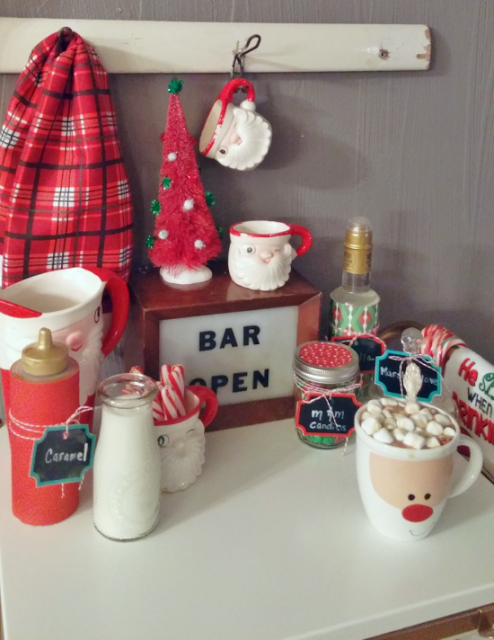 Create a hot cocoa bar for a fun holiday party!