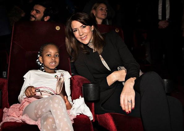 Crown Princess Mary wore an Zara Crepe Frock Coat, L.K Bennett Pumps and carried Quidam Alligator grey Clutch at the Copenhagen International Documentary Festival