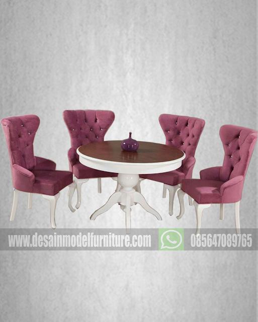 Harga kursi makan minimalis modern 4 kursi cat duco putih