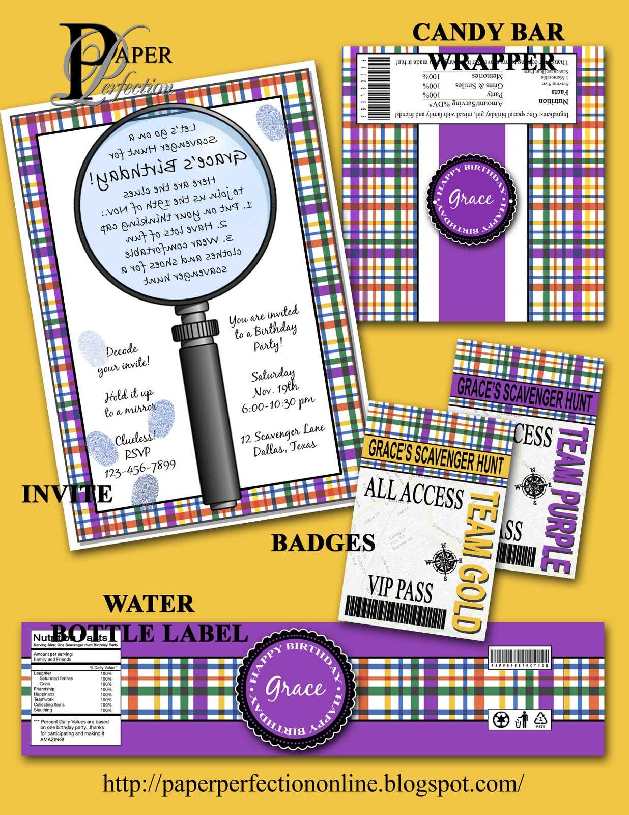 Printable Hunting Birthday Party Package   Camouflage  21 ...   Hunting Party Printables