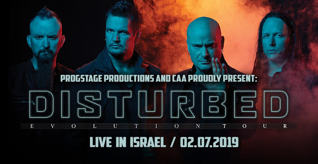 disturbed דיסטרבד בישראל 2019 - כרטיסים והנחות