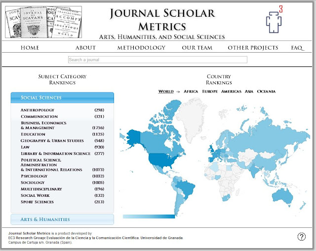 Google Scholar Digest: Journal Scholar Metrics: An