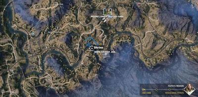 Far Cry 5, Shrines Locations, Faith's Region, Hope County Jail