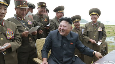 A good laugh: North Korea leader Kim Jong Un