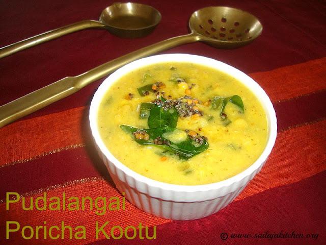 images for Pudalangai Poricha Kootu / Snake Gourd Poricha Kootu