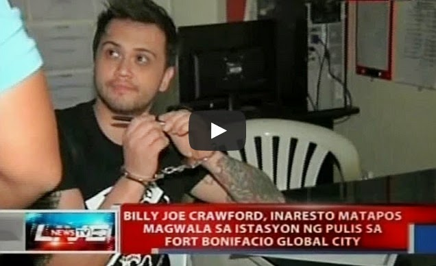 Billy Crawford jailed in BGC precinct due to malicious mischief