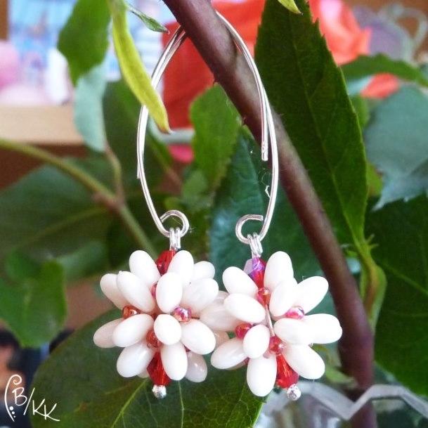 kolczyki beadingowe z rizo   beaded rizo earrings